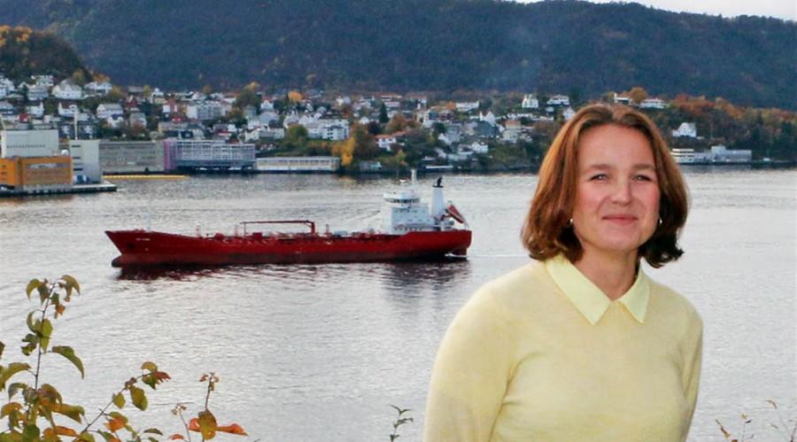 Trude Amundsen underviser i maritimt språk og tek no doktorgrad om språkundervisning. Foto Fagskolen i Hordaland