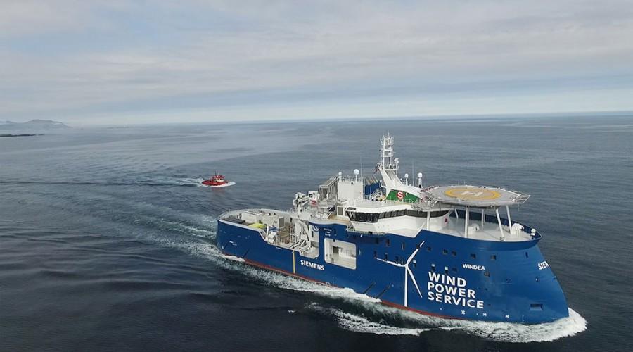 Gode resultat for vindserviceskip på prøvetur. Alle foto: Ulstein