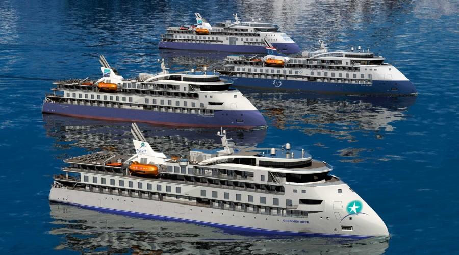 Det fjerde fartøyet til SunStone Ships vil bli chartra av Vantage Cruise Line. illustrasjon Ulstein Group