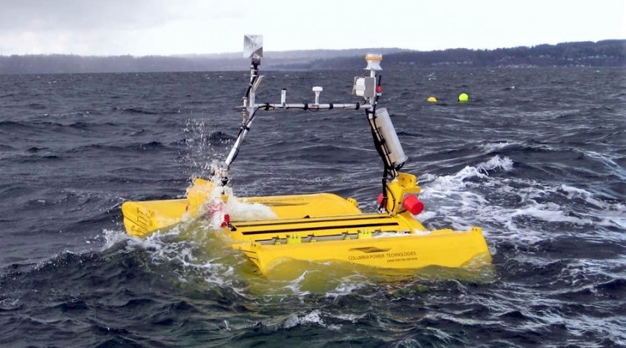 While much attention has been paid to advancements in solar and wind power technology, C-Power is a pioneer in efficiently harnessing ocean wave energy to enable new forms of offshore applications including oil and gas exploration and production, offshore carbon sequestration, oceanographic research, aquaculture and homeland defence. Photo: Columbia Power Technologies.