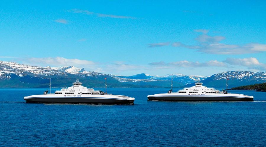 Design på de nye LNG drevne fergene er type MM 125 FD LNG. Foto: Multi Maritime.