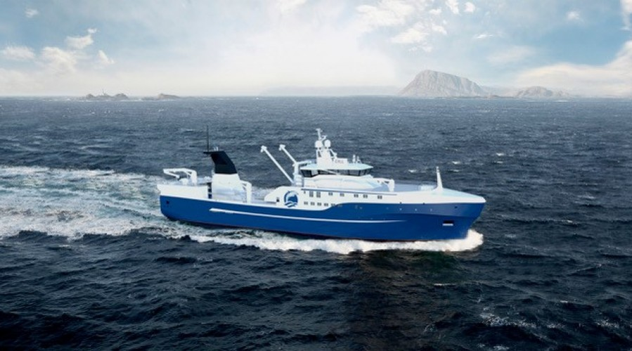 Vard will be building a new stern trawler for a Russian company. Ill: Vard.