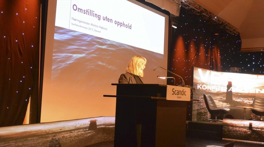 Næringsministeren åpnet årets Verftskonferanse. Foto: John Inge Vikan