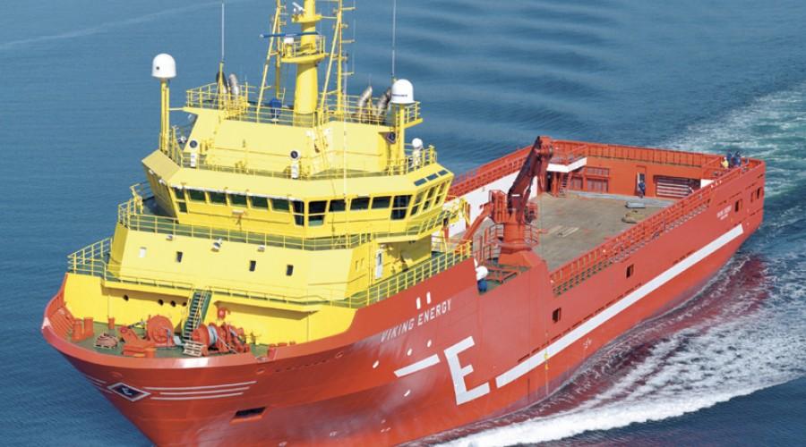 Forsyningsfartøyet Viking Energy skal etter ombygging kunne gå på ammoniakk, LNG og batteri. Foto: Harald Valderhaug
