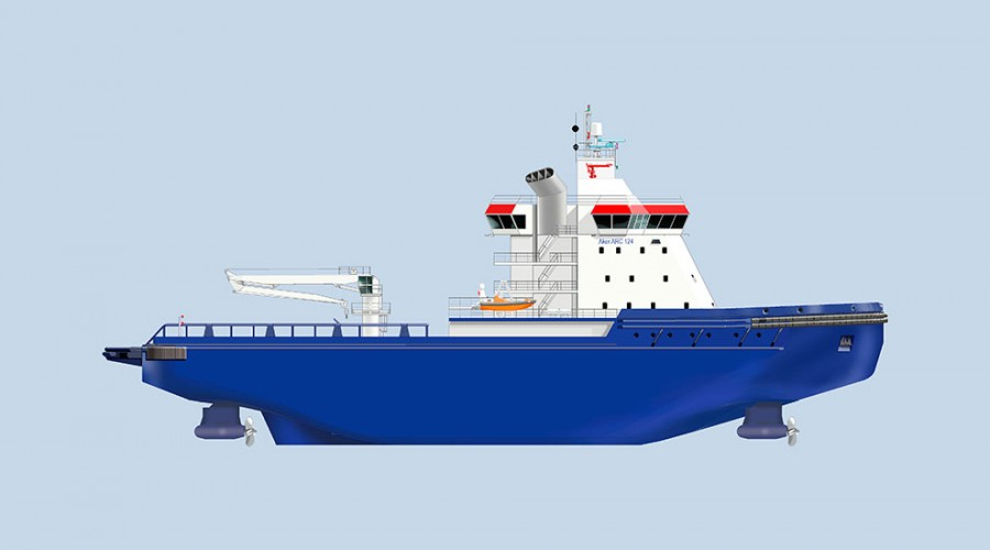 FSUE Atomflots nye isbryter har desingen Aker ARC 124.