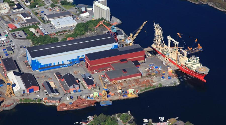 Westcons anlegg i Florø. Foto: Westcon