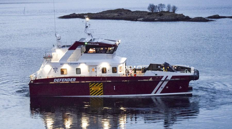 Bildet viser søsterfartøyet Defender, levert i desember 2016. Foto: Grovfjord Mek. Verksted