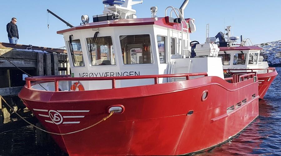 Bildet viser Nærøyværingen, en av fem like båter SinkabergHansen har fått levert fra Viknaslipen. Foto: SinkabergHansen